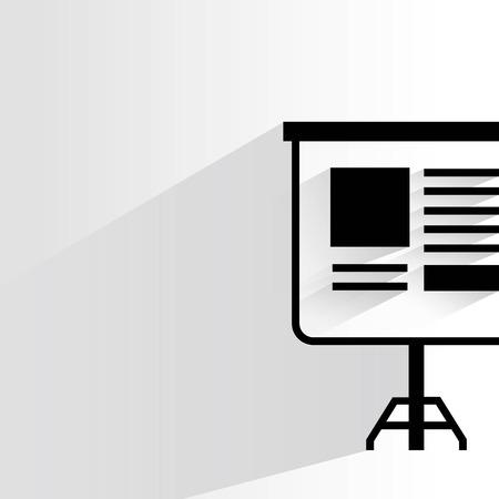 projector: projector slide Illustration