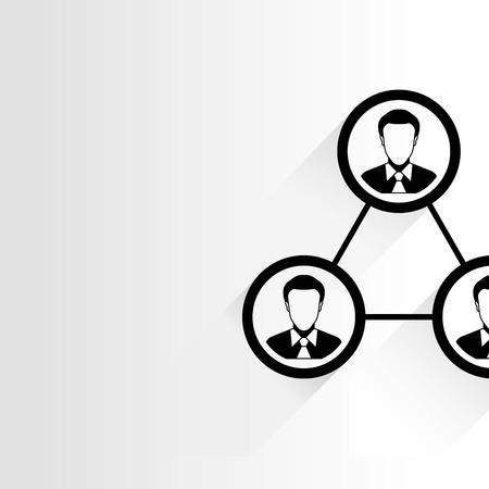 link work: people diagram human management Illustration