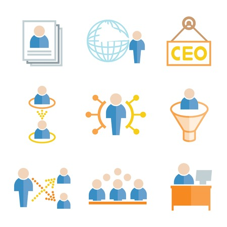 dealings: management icons Illustration