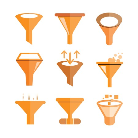 seep: funnel icons