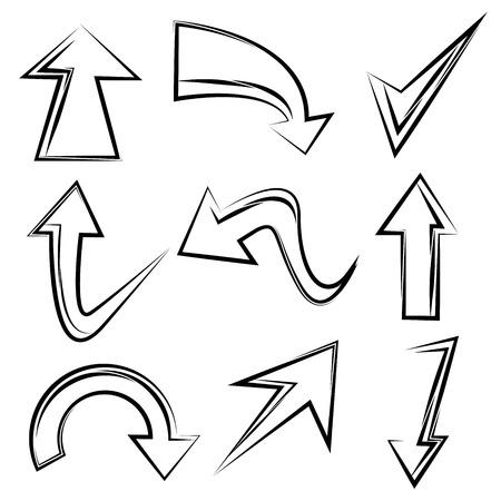 sketched arrows: sketched arrows