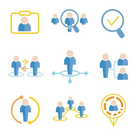 business management icons Illustration