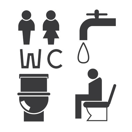 wc: WC Symbole Illustration