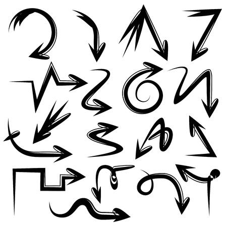 bent: doodle arrows