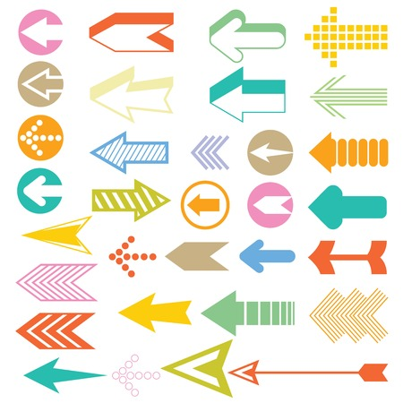 arrow icons Ilustrace