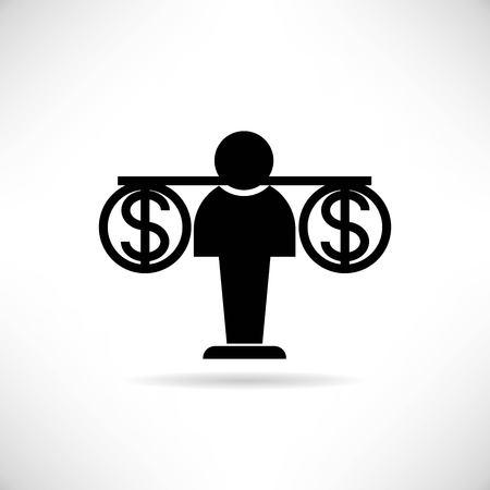 affair: money balance scale Illustration