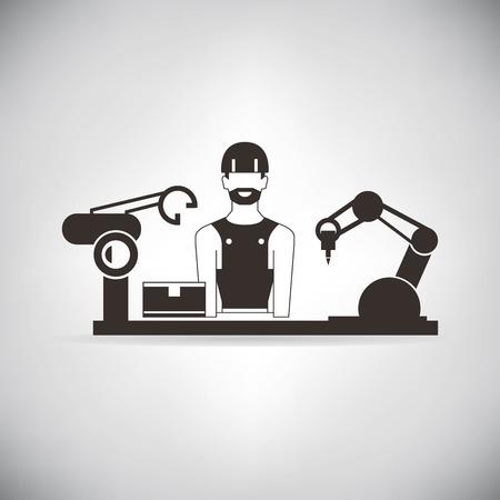 mano robotica: fabricación de control ingeniero mano robótica