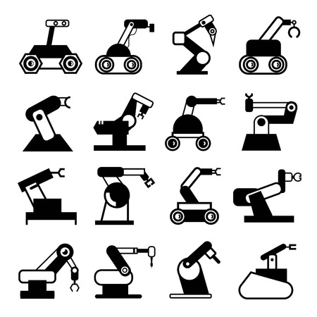 manufacturing equipment: robot icons