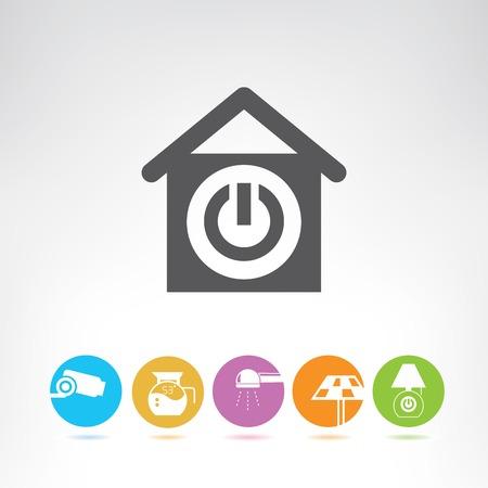 casa inteligente Ilustración de vector