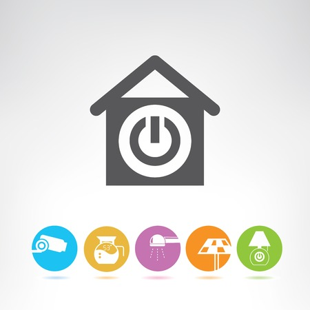 solar home: smart home Illustration