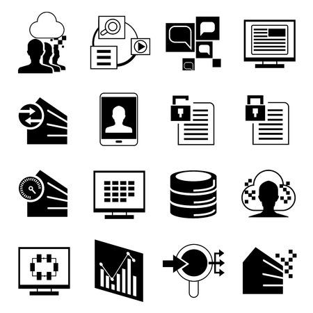 compute: analytics icons Illustration