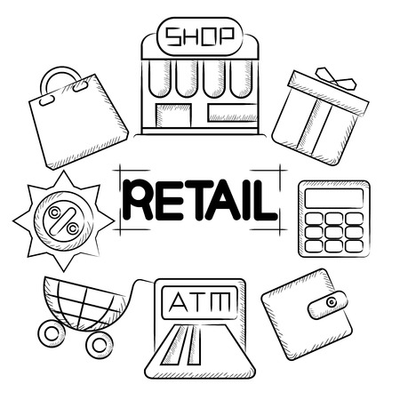 retail: retail Illustration