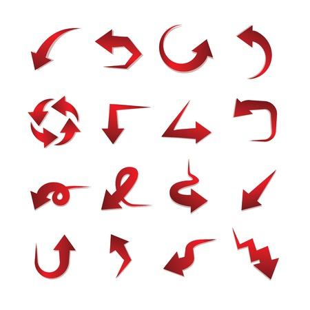 flecha: flechas rojas