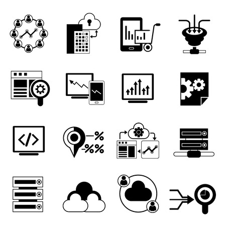 e systems: web analytics icons