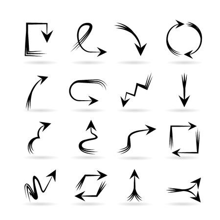 upward movements: hand draw arrows