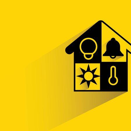 energy symbol: smart home Illustration
