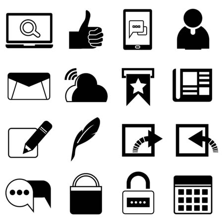call log: social media icons