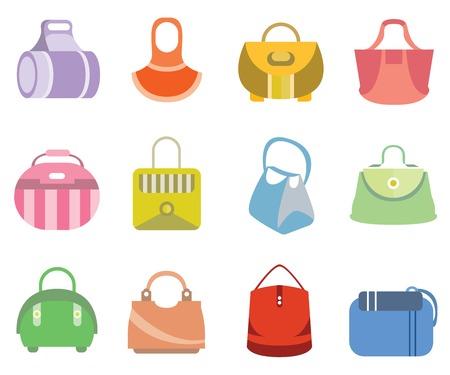 bagagli: Icone del sacchetto di modo