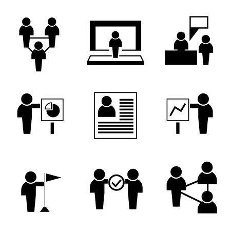 co workers: business icons Illustration