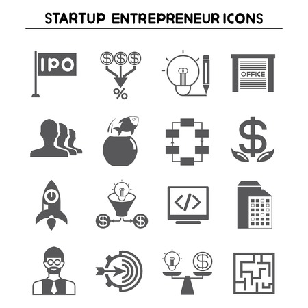 incorporation: start up business icons Illustration