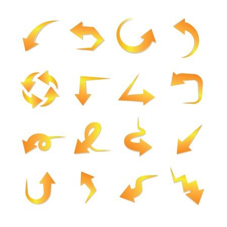indexes: orange arrows