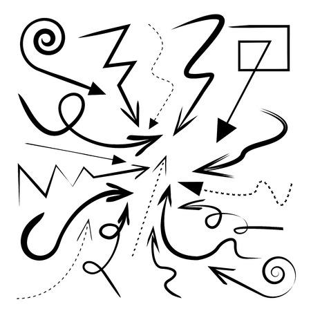doodle arrow curve arrows Vector