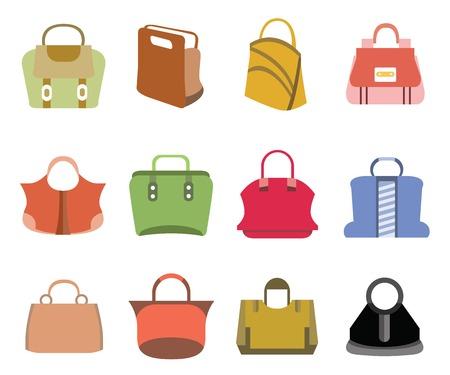 chamois leather: fashion bag icons Illustration