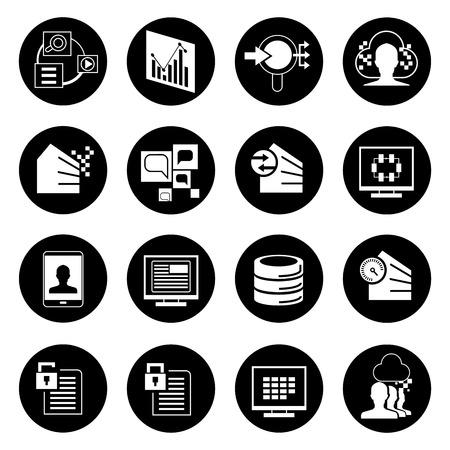 data base: big data icons