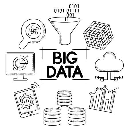 big data Vector