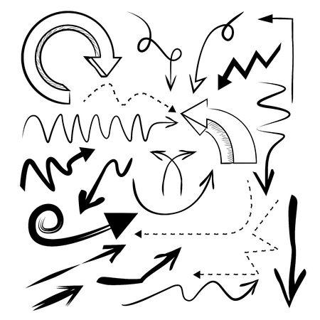 kink: hand drawn arrows Illustration