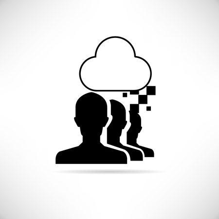 compute: cloud collaboration Illustration