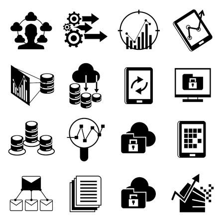 functions: analytics icons Illustration