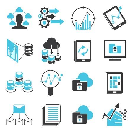 data: data analytics icons Illustration