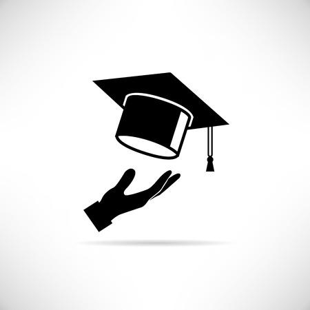 birrete de graduacion: Graduación de la tapa  Vectores