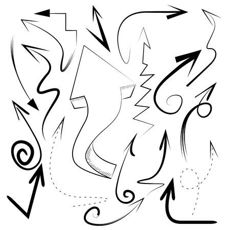 sketch arrow collection Vector