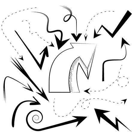 upward movements: sketch arrow collection