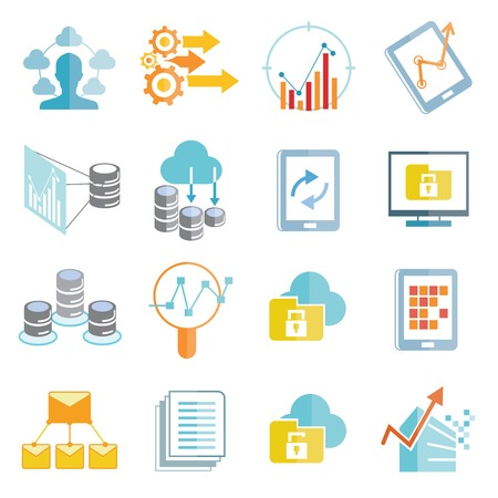 analytics icons 向量圖像