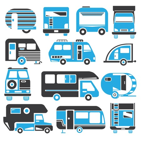 camping truck blue theme