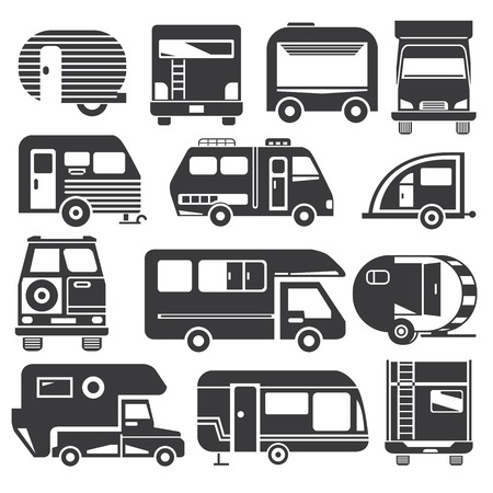 motor coach: camping truck Illustration