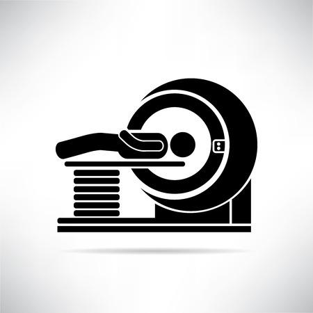 MRI スキャナー  イラスト・ベクター素材