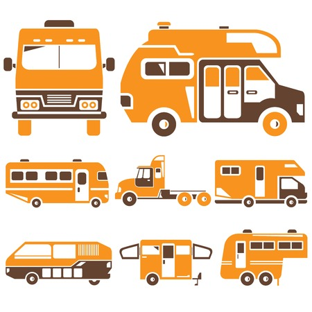 motor coach: recreational vehicles orange theme