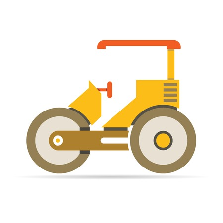 harrow: tractor Illustration