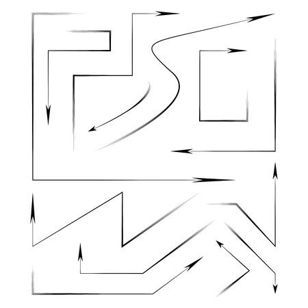 lefthand: thin line arrows