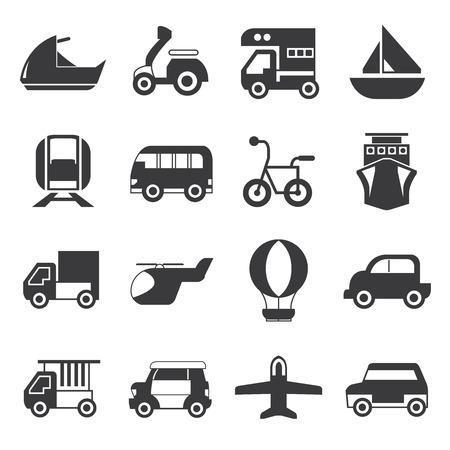 transportes: iconos de transporte Vectores