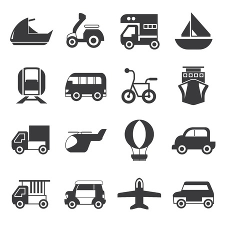 transportation icons Stock Vector - 41126379