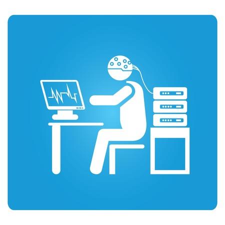 med: brain signal analysis Illustration