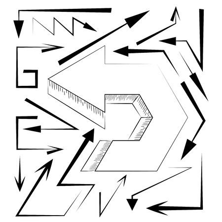 designator: arrows Illustration