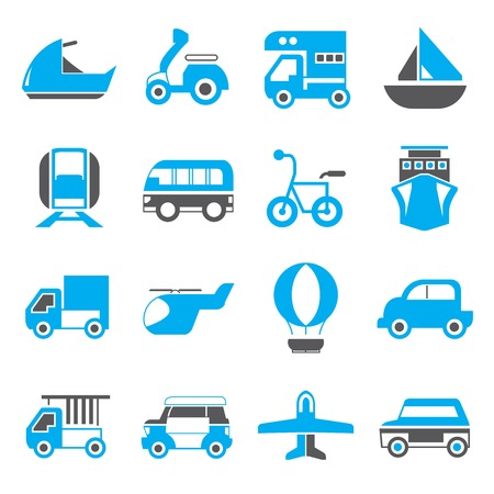 portage: vehicle icons blue theme
