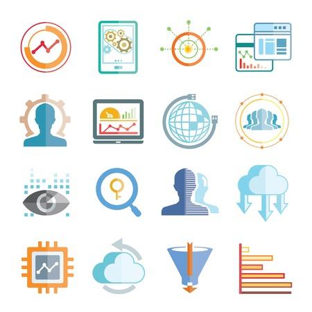 analytics icons Ilustração