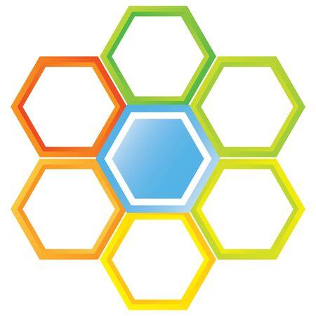 hexagonal: hexagonal diagram Illustration